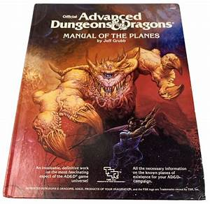 Advanced Dungeons And Dragons Manual Of The Planes Tsr2022