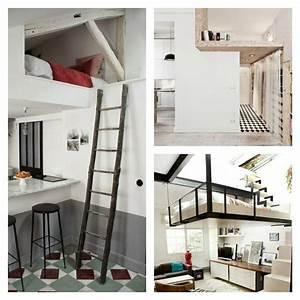 Lit Gain De Place Studio : lit mezzanine adulte et am nagement de petits espaces ~ Premium-room.com Idées de Décoration