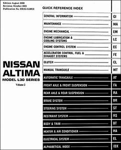 2001 Nissan Altima Repair Shop Manual Set Original