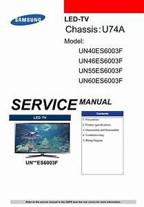 Samsung Un40es6003 Un46es6003 Un55es6003 Un60es6003