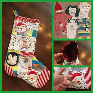 Custom, Christmas, Stocking, Made, From, Baby, Clothes, Made, By, A, Little, Sweet, Treat
