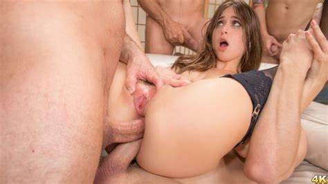 Two Retro Fuck Blowie Stuffed Riley Reid Orgy Two Penetration, Ffm Gash