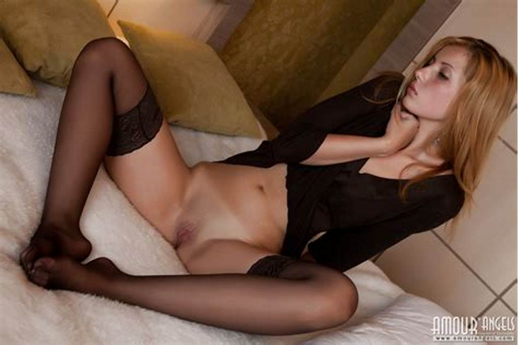 #Beautiful #Teen #Cutie #In #Sexy #Black #Stockings #Showing #Her
