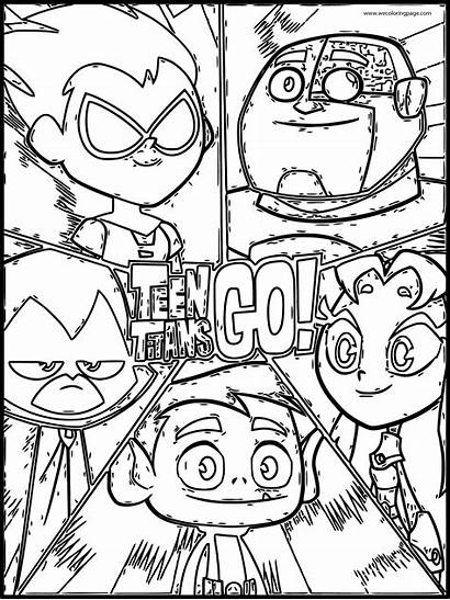 Coloring Titans Teen Sheet Sketch Cartoon Network