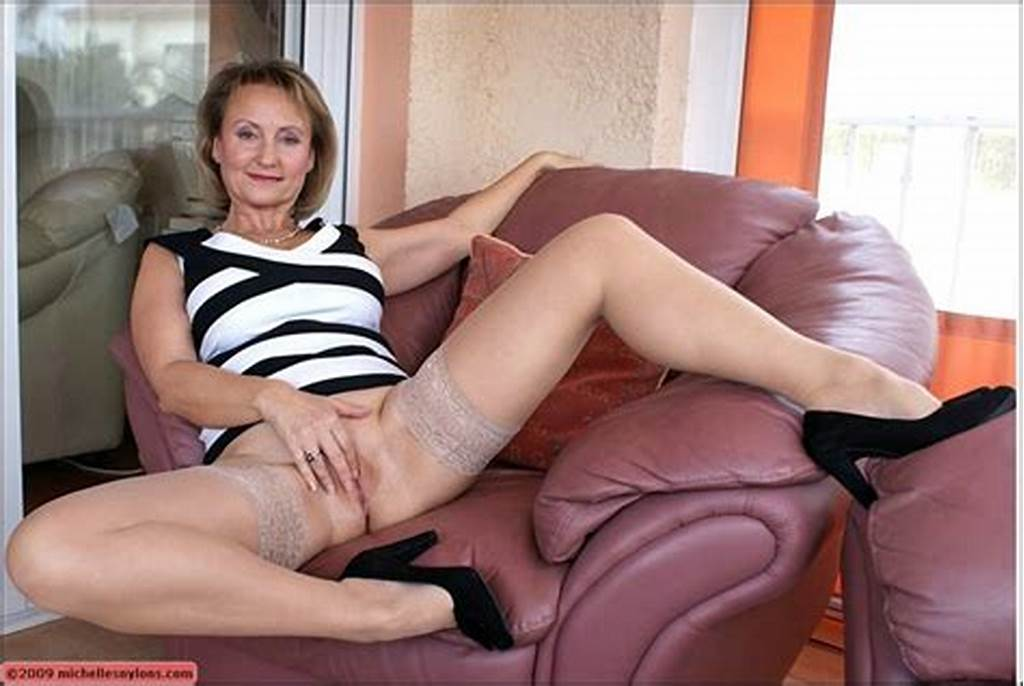 #Mature #Bbw #In #Stockings #Takes #Off #Her #Panties #To #Rub #Her