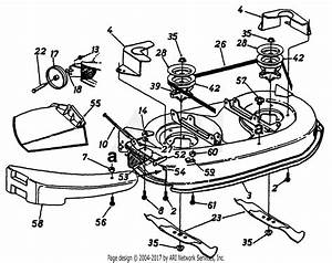 Mtd 13a1674g401  1997  Parts Diagram For Deck Assembly
