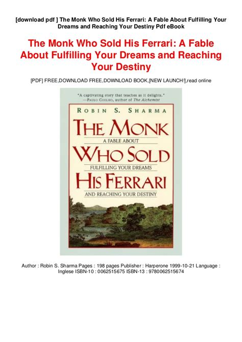 Is a gem—a great book for those who want to discover the power within. the timeless secret of lifelong happiness. A monk who sold his ferrari book pdf > donkeytime.org
