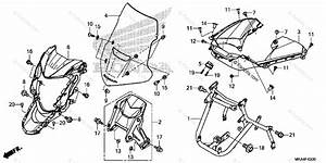 Honda Motorcycle 2017 Oem Parts Diagram For Front Cowl