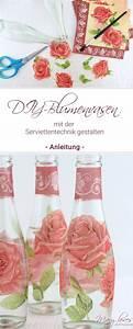 Basteln Mit Serviettentechnik : diy blumenvasen mit serviettentechnik gestalten diy ~ A.2002-acura-tl-radio.info Haus und Dekorationen