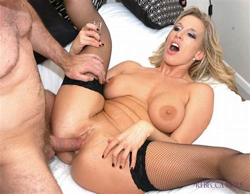 Sultry English Milf Banged In Her Pussy #Raunchy #British #Blonde #Rebecca #More #In #Sexy #Black #Fishnets