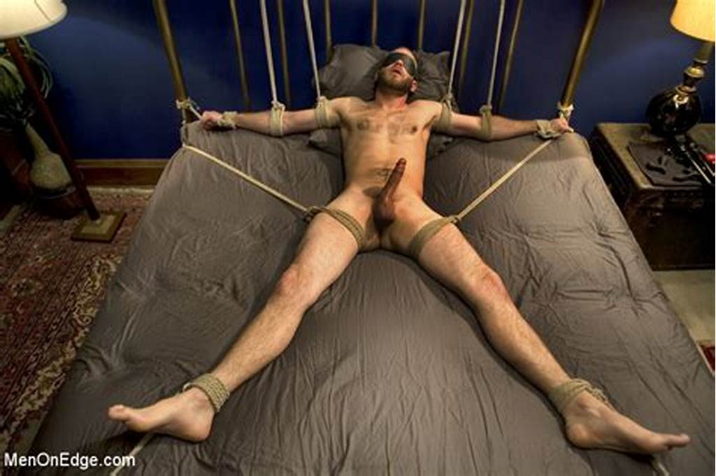 #Guy #Tied #To #Chair #And #Then #To #Bed #Gets #His