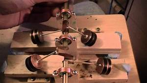 4 Cylinder Steam Engine Piston Assembly Working