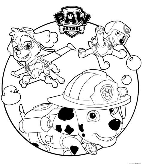 Paw Patrol Coloring Pages Darmowe kolorowanki