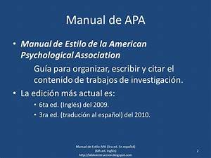 Manual Of The American Psychological Association 6th
