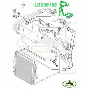 Land Rover Cooling Thermostat Hose Range Sport Lr3 V8 Lr006158 Oem