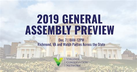 2019 General Assembly Preview Virginia Conservation Network