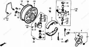 Honda Atv 1986 Oem Parts Diagram For Fr  Brake Panel