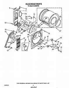 Roper Model El5030vw0 Residential Dryer Genuine Parts