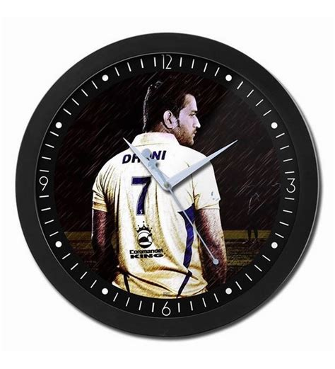Kmart has wall clocks for every room in the house. Bluegape Ms Dhoni Indian Cricket Legend Glass Wall Clock ...