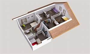 plan maison demi niveau With plan maison demi niveau 7 plan maison 4 chambres maison moderne