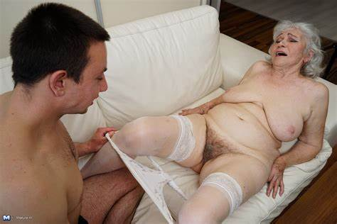 Perky Granny And Her Boytoy Bad Dildo Man Fun Around With A Hairless Granny