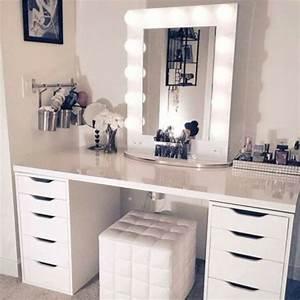 Coiffeuse Miroir Led : moderner schminktisch mit spiegel h bsche fotos ~ Teatrodelosmanantiales.com Idées de Décoration
