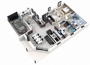 Mod U00e8le Maison Electre Contemporaine 3d