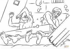Paul And Silas Survives Earthquake Coloring Page Free