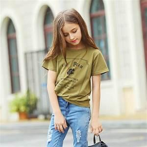 2016 Summer Teenage Girls clothing T shirts for Baby Girls ...