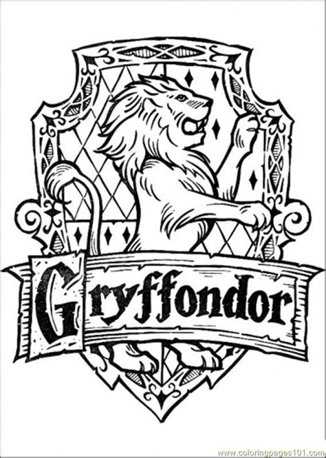 Gryffondor Coloring Page Free Harry Potter Coloring