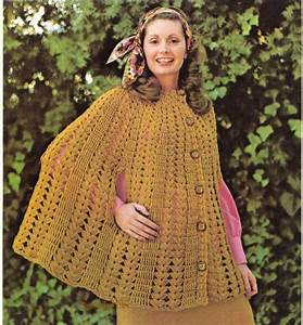 Vintage Cape Crochet Pattern In Pdf Instant Download