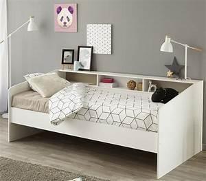 Jugendbett Mit Stauraum : jugendbett sleep 90 x 200 cm wei es modernes design mit ~ Watch28wear.com Haus und Dekorationen