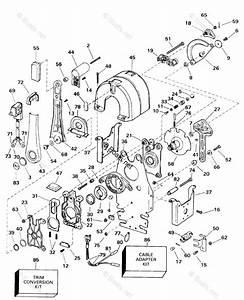 Omc Sterndrive Accessories 1998 Oem Parts Diagram For Remote Control - Binnacle
