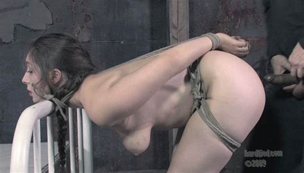 #Naked #Brunette #Slave #Sister #Dee #Gets #Tied #To #Bed #Before