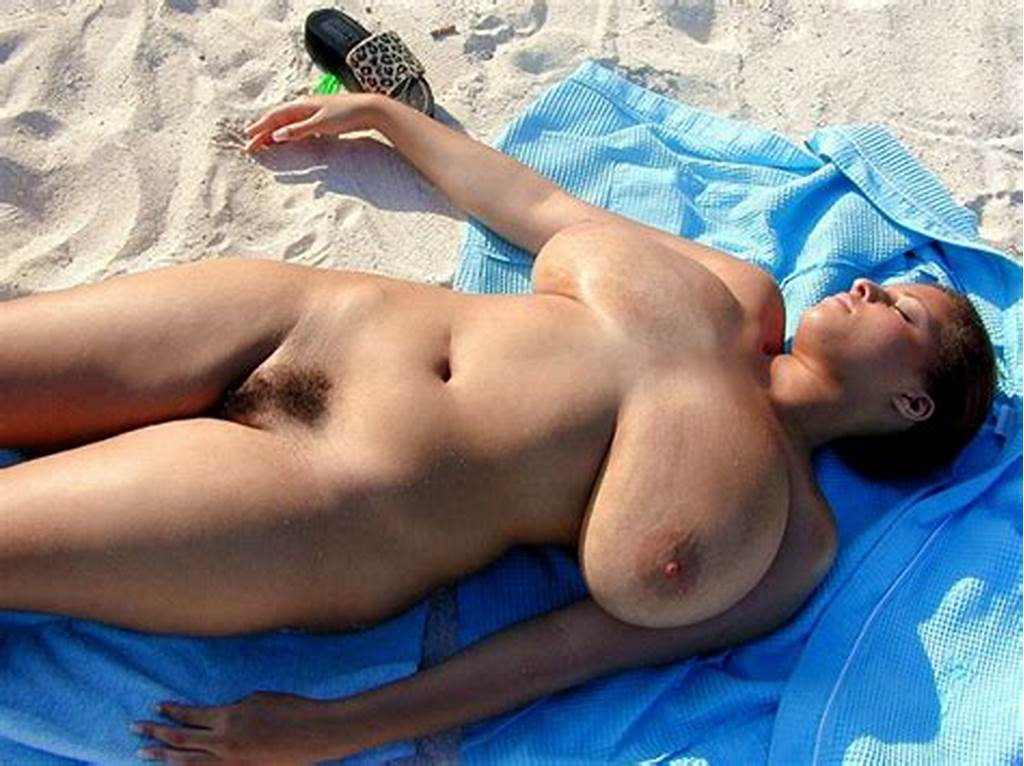 #Big #Breasted #Topless #On #Family #Beach