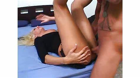 Juicy Blond Shemale Plowing Her Villein