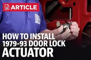 How To Install Fox Body Mustang Door Lock Actuator  87