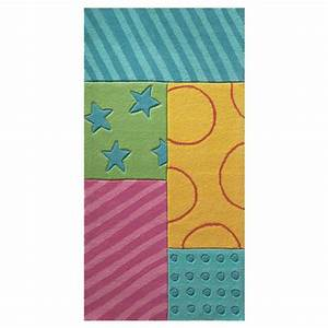 tapis enfant patchwork garden multicolore esprit home 70x140 With tapis enfant esprit