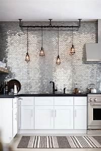 carrelage metro dans la cuisine une decoration tendance With nice quelle couleur avec du gris 4 la couleur orange pour tous les styles