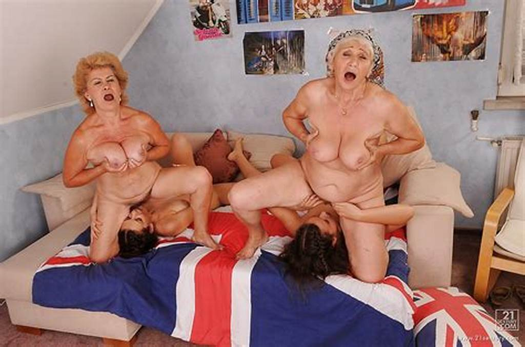 #Lustful #Teenage #Lesbians #Have #A #Foursome #With #Their #Mature