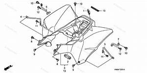 Honda Atv 2008 Oem Parts Diagram For Rear Fender   U0026 39 06