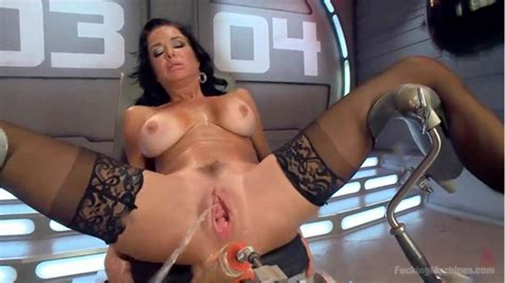 #Milf #Hardcore #Squirts #From #Machine #Giant #Dildo #Fucking