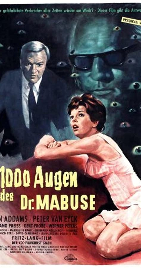 This is a movie which has so many sentiments attached to it. The 1,000 Eyes of Dr. Mabuse (1960) - IMDb