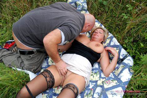 Dogging Mother Taking In The Park