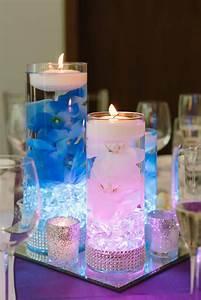 Wedding, Centerpiece, Floating, Candle, Centerpiece, Blue, Decor, Purple, Decor, Led, Centerpiece