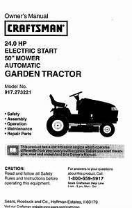 Craftsman 917273221 User Manual Tractor Manuals And Guides