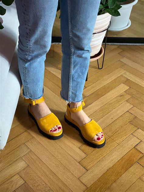 Sandale Nataly Yellow - Mauri.ro