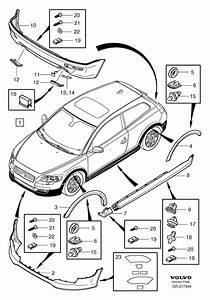 Volvo C30 Valance Panel  Front   Spoiler  Body Kit  Bumper