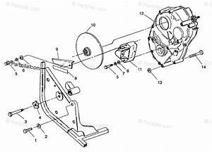 Polaris Atv 1993 Oem Parts Diagram For Gearcase  Rear Brake
