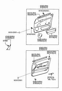 Toyota Corolla Weatherstrip Assembly  Front Door Glass